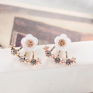 5 for $25 Rose Gold Color Double Sided Earrings